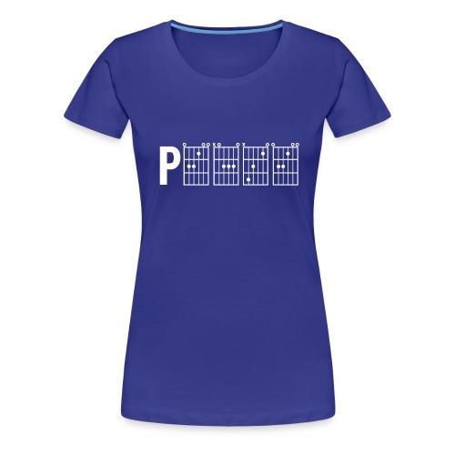 P.E.A.C.E. - White Print - Women's Premium T-Shirt - Women's Premium T-Shirt