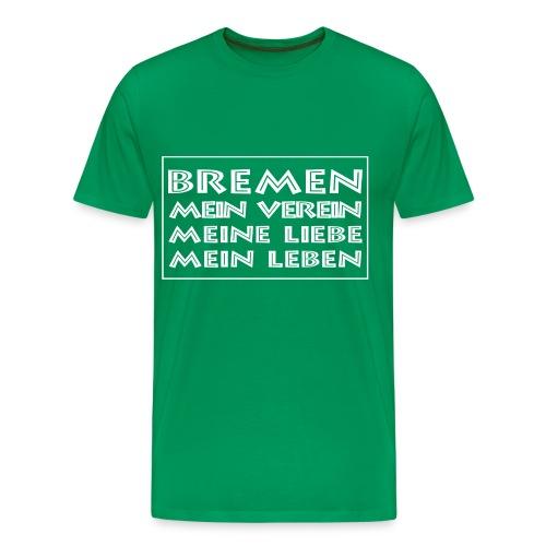 Bremen, mein Verein grün - Männer Premium T-Shirt