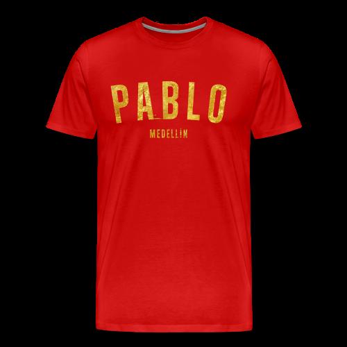 PABLO MEDELLIN GOLD SHIRT - Männer Premium T-Shirt