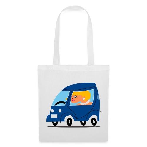 Girl in a car - Tote Bag