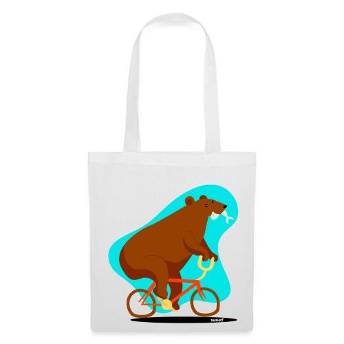 Bear on a bike - Tote Bag