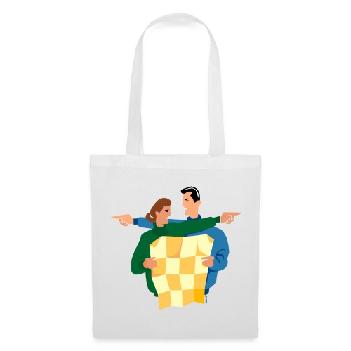 Husband and wife map reading - Tote Bag