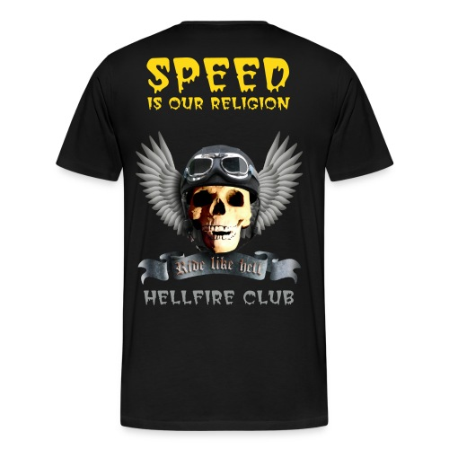 Speed is our religion - Men's Premium T-Shirt
