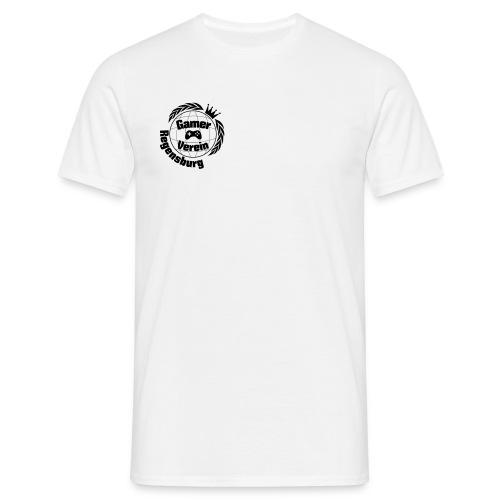 Gamerverein T-Shirt Weiß Male + Nickname - Männer T-Shirt