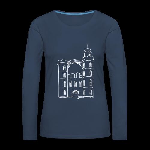 Schloss der Pfaueninsel - Frauen Premium Langarmshirt