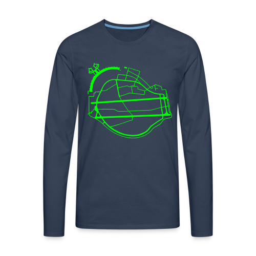 Tempelhofer Feld Berlin (neon grün) - Männer Premium Langarmshirt