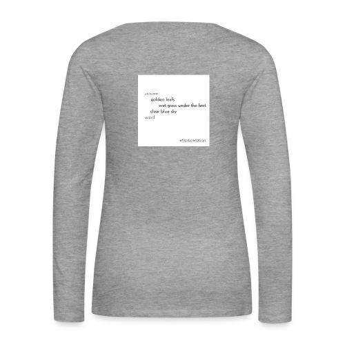 Autumn collection - Golden Leafs - Frauen Premium Langarmshirt