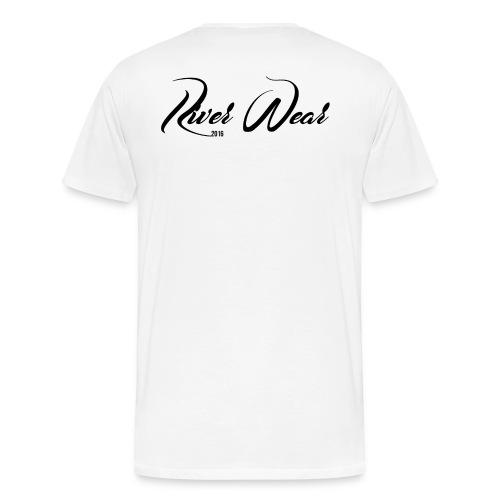 RiverWear - Double logo - Premium-T-shirt herr