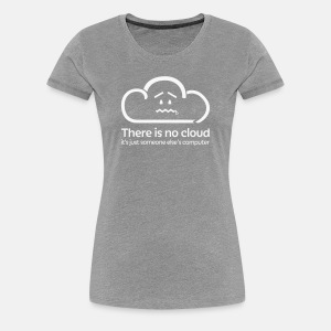 'There Is No Cloud' T-Shirt - Grey Glitter - Women's Premium T-Shirt