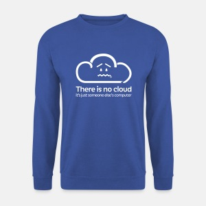 'There Is No Cloud' Jumper - Royal Blue - Men's Sweatshirt