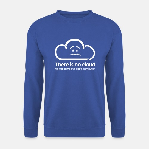 'There Is No Cloud' Jumper - Royal Blue - Men's Sweatshirt