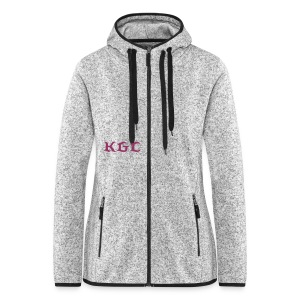 Women's Hooded Fleece Jacket - grey - Women's Hooded Fleece Jacket