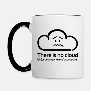 'There Is No Cloud' Mug - Black - Contrasting Mug