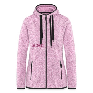 Women's Hooded Fleece Jacket - Pink - Women's Hooded Fleece Jacket