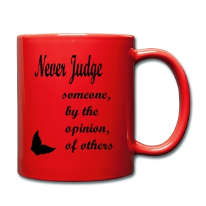 Red - Dont Judge Mug - Full Colour Mug