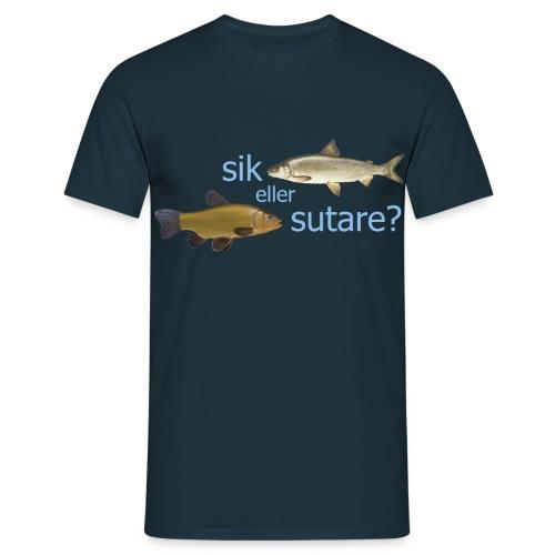 Sik eller sutare - Blå text - T-shirt herr
