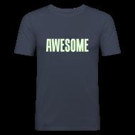 T-skjorter ~ Slim Fit T-skjorte for menn ~ Awesome