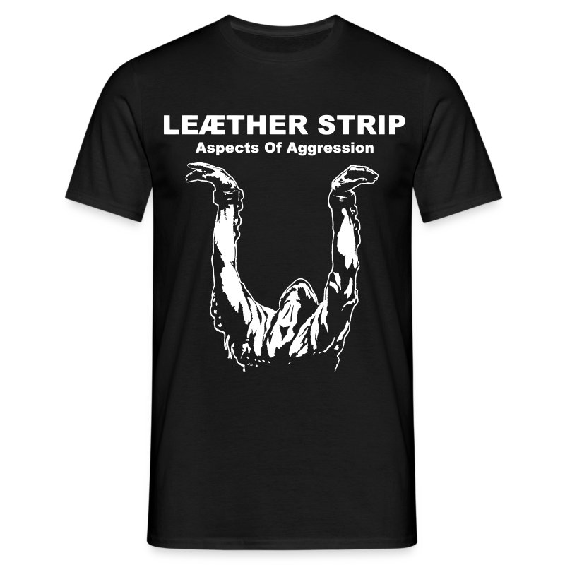 Leaether Strip - Aspects of Aggression : T-Shirt - black - Men's T-Shirt