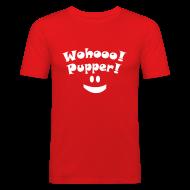T-skjorter ~ Slim Fit T-skjorte for menn ~ Wohooo! Pupper! :)