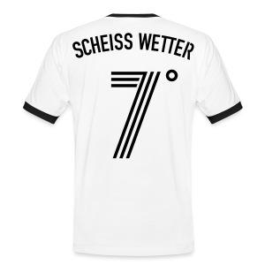 SCHEISS WETTER 7 Grad - Männer Kontrast-T-Shirt