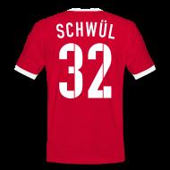 T-Shirts ~ Männer Kontrast-T-Shirt ~ SCHWÜL 32°