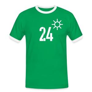 HEITER 24° - Männer Kontrast-T-Shirt