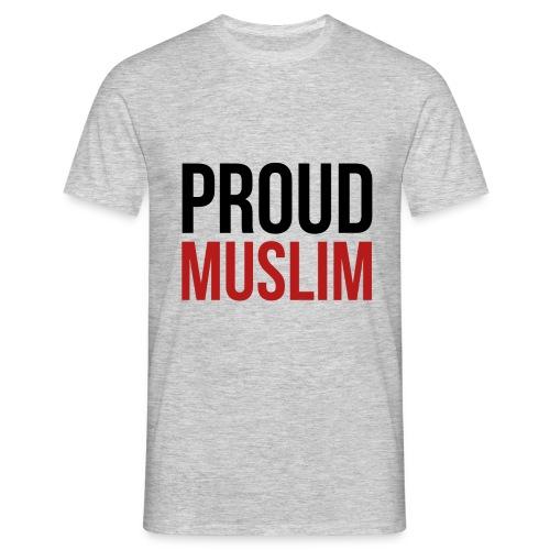Proud Muslim - Shirt grau - Männer T-Shirt