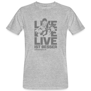 Mike Janipka - Grau *ökologische Herstellung* - Männer Bio-T-Shirt