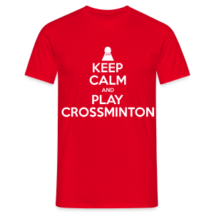 Männer Keep Calm and Play Crossminton T-Shirt - Männer T-Shirt