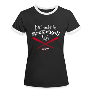 Born under the Rock'n'Roll sign - Tee shirt contraste Femme