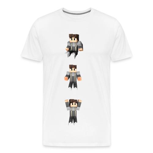 T-Shirt Weiß [mit Skins] - Männer Premium T-Shirt