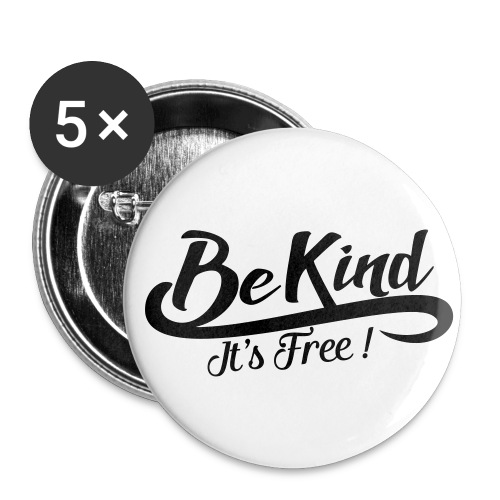 Be kind it's free - Buttons medium 1.26/32 mm (5-pack)
