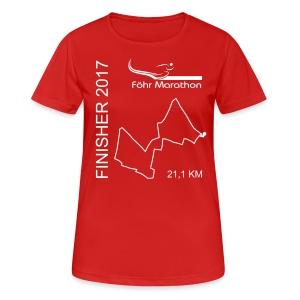 Finisher F Langschläfer HM weiß - Frauen T-Shirt atmungsaktiv