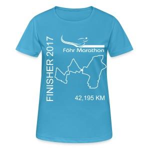 Finisher F Marathon weiß - Frauen T-Shirt atmungsaktiv