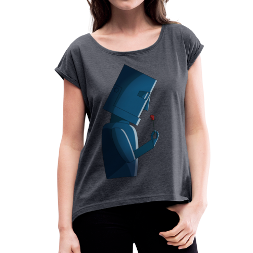 Tender Robot Girly - Women's T-shirt with rolled up sleeves
