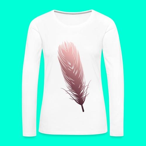 Feather - Naisten premium pitkähihainen t-paita
