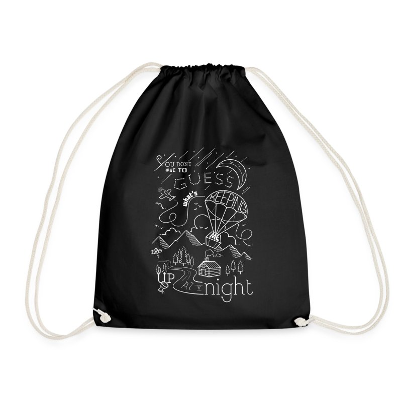 Up at Night lil smaller - Drawstring Bag