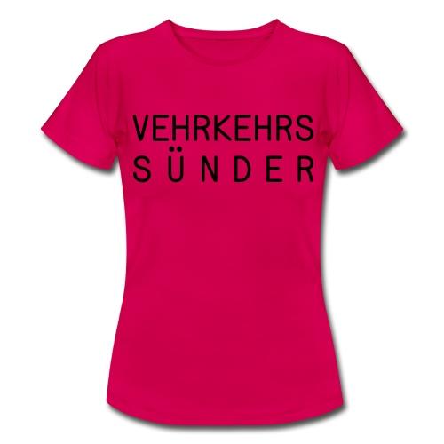 T-Shirt Damen Sünder - Frauen T-Shirt