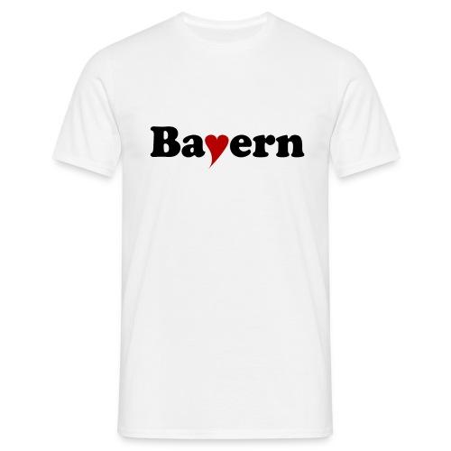 Bayern mit Herz - Männer T-Shirt