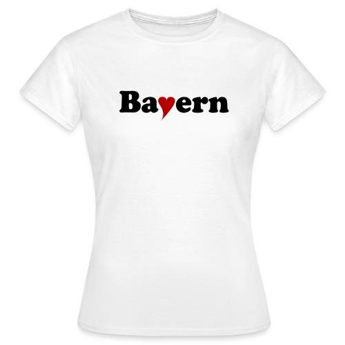 Bayern mit Herz - Frauen T-Shirt