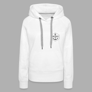 MightyHoodie Female White - Frauen Premium Hoodie