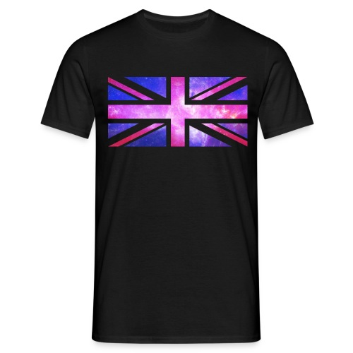 Union Jack Transparent White Galaxy - Men's T-Shirt