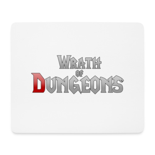 Wrath of Dungeons Mousepad (White) - Mouse Pad (horizontal)