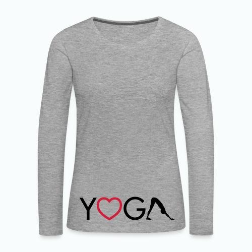 I love yoga - Dame premium T-shirt med lange ærmer