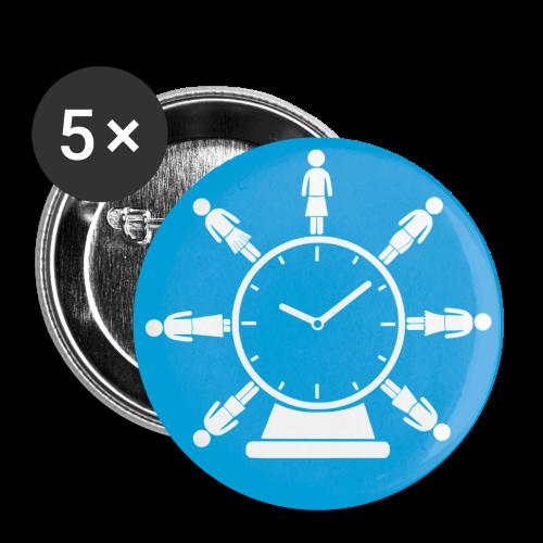 Buttons (türkis)  Rock around the Clock - Buttons klein 25 mm
