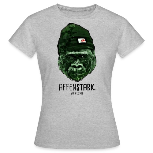 Frauen T-Shirt - Motiv:  CC0 Public Domain Free for commercial use  No attribution required   https://pixabay.com/en/monkey-cool-abstract-funny-cap-1235244/