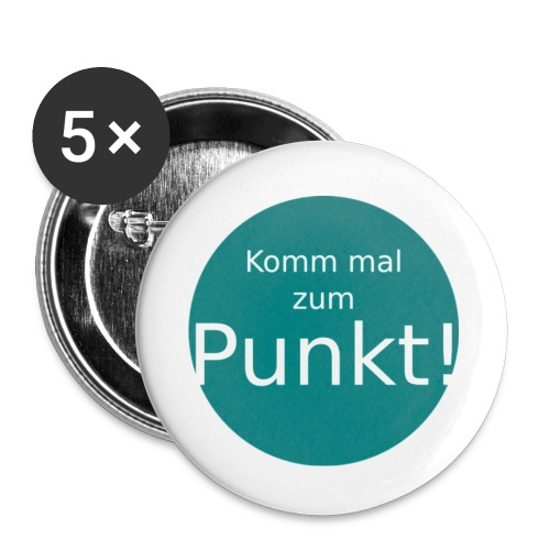 5 x Buttons Komm mal zum Punkt! - Buttons mittel 32 mm (5er Pack)