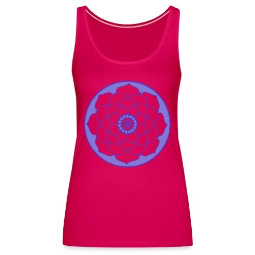 Mauve Lotus Flower Mandala - Women's Premium Tank Top