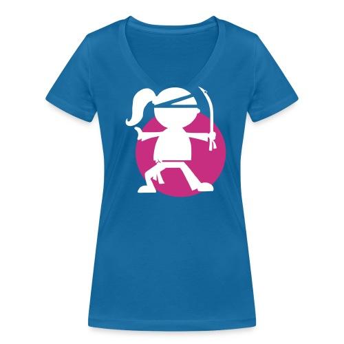 Urban Ninjarette - Gals - Women's Organic V-Neck T-Shirt by Stanley & Stella