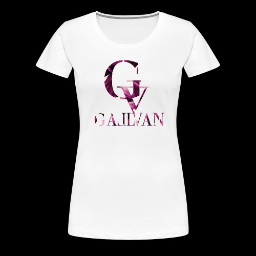 Gallvan Logo T-Shirt Bianco Purple Woman - Frauen Premium T-Shirt
